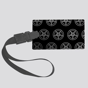 Satanic Pentagrams Large Luggage Tag