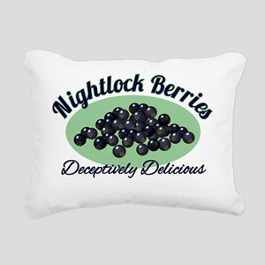 Nightlock-Berries Rectangular Canvas Pillow