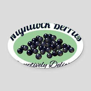Nightlock-Berries Oval Car Magnet