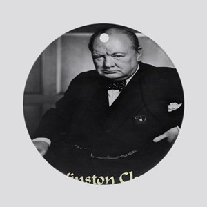 winston_churchill_remastered_lynchp Round Ornament