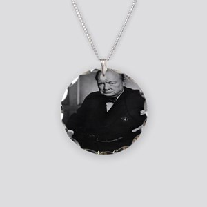 winston_churchill_remastered Necklace Circle Charm