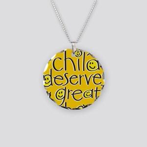 EveryChildPoster16x20 Necklace Circle Charm