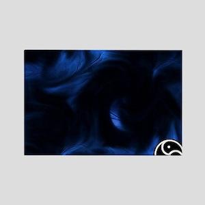 bondage background blue and logo Rectangle Magnet