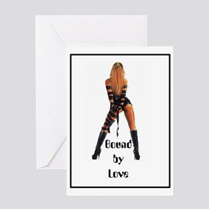 bondage bound by love straps Greeting Card