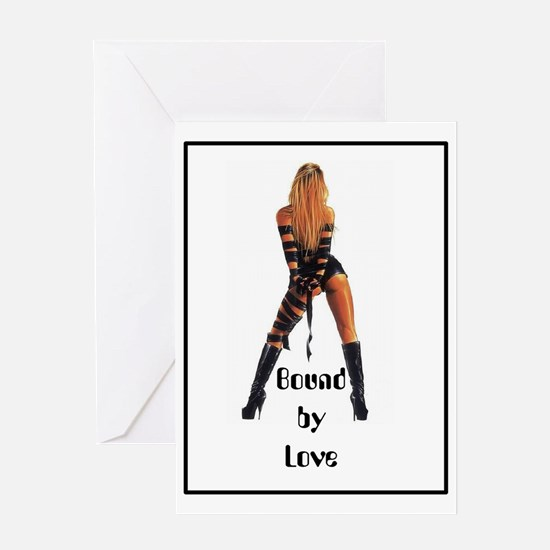 bondage bound by love straps Greeting Card