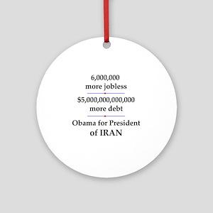 iranpresident Round Ornament