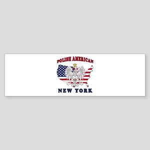 New York NY Polish Sticker (Bumper)