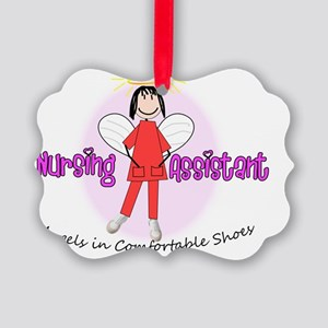 nursing assistant stick angels in Picture Ornament