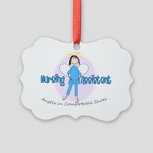 nursing assistant stick BLUE Picture Ornament