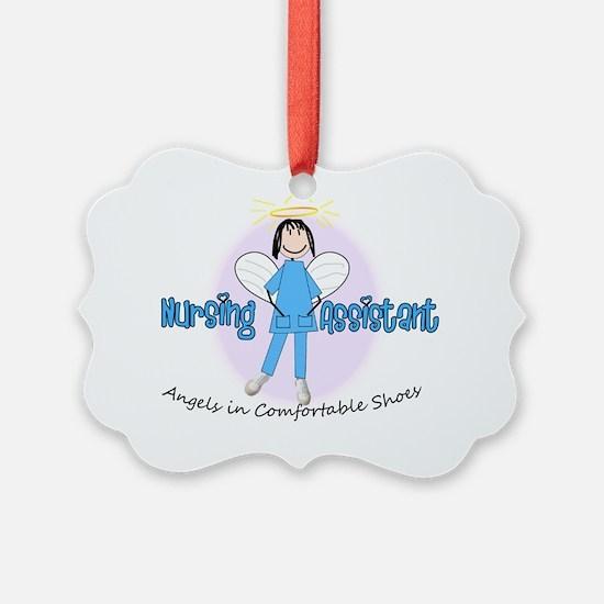nursing assistant stick BLUE Ornament