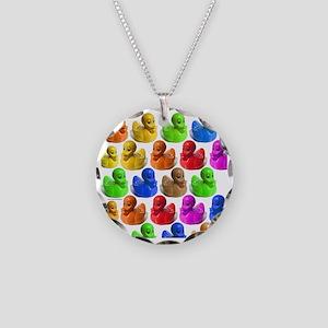 duckies-shower-curtain rainb Necklace Circle Charm