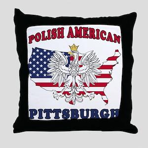 Pittsburgh Pennsylvania Polish Throw Pillow