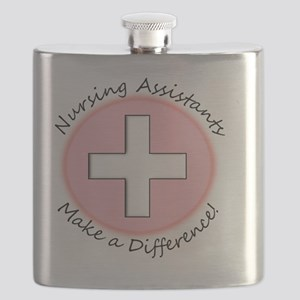 Nursing assist MAKE A DIFF PINK Flask