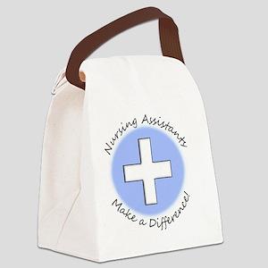 Nursing Assist MAKE A DIFF Canvas Lunch Bag