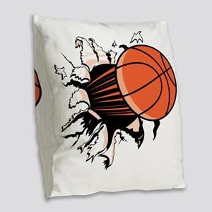BasketballSC Burlap Throw Pillow