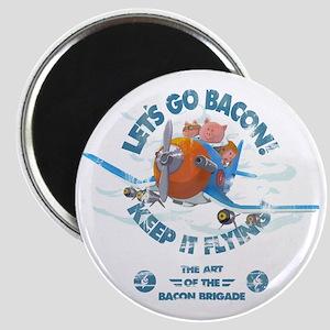 Pigs_fly_plane_Bacon_brigade_Vintage2 Magnet