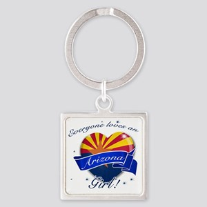 arizona. girl  Square Keychain