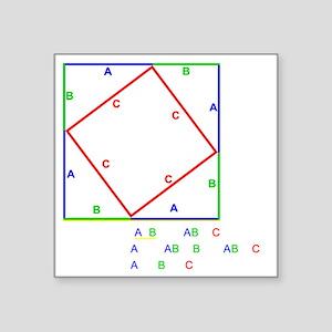 "Pyth_Thm_BlackShirt Square Sticker 3"" x 3"""