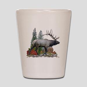 Bull elk r Shot Glass