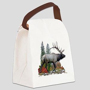Bull elk r Canvas Lunch Bag