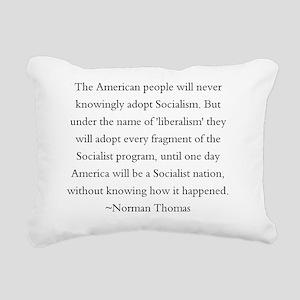 Norman Thomas Quote Rectangular Canvas Pillow