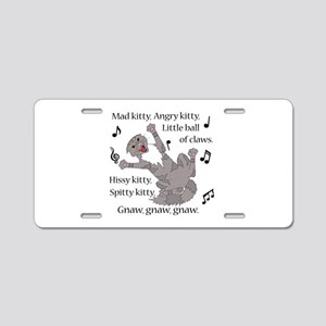 Mad Kitty Angry Kitty Aluminum License Plate