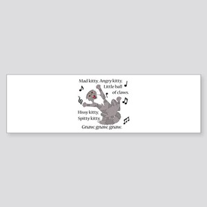 Mad Kitty Angry Kitty Bumper Sticker