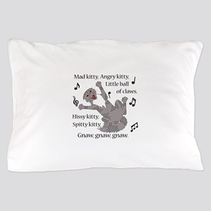 Mad Kitty Angry Kitty Pillow Case