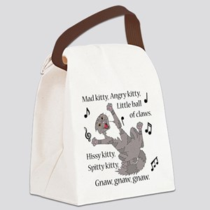 Mad Kitty Angry Kitty Canvas Lunch Bag
