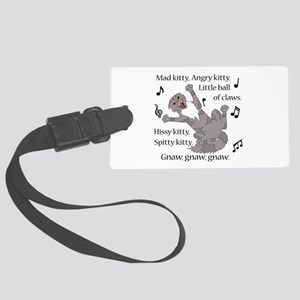 Mad Kitty Angry Kitty Luggage Tag