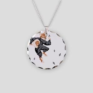 Shiba_Ninja_reusable_shoppin Necklace Circle Charm