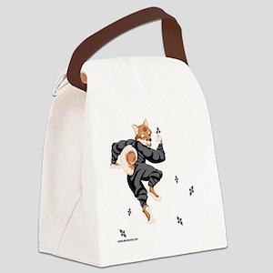 Shiba_Ninja_reusable_shopping_bag Canvas Lunch Bag