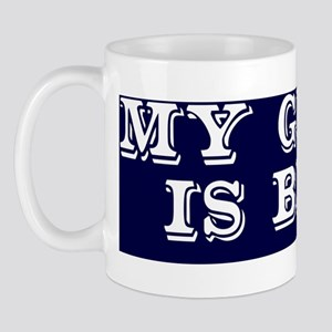 my grass is blue white bs 2 Mug