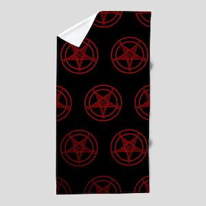 Satanic Pentagrams Beach Towel