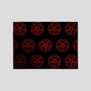 Satanic Pentagrams 5'x7'Area Rug