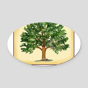 TreeReunion2012A Oval Car Magnet