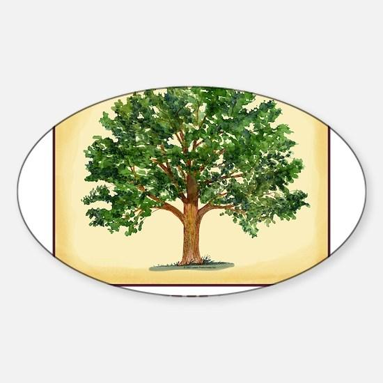 TreeReunion2012A Sticker (Oval)