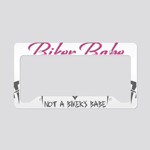 biker babe License Plate Holder