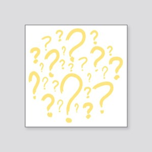 """Questions_yellow Square Sticker 3"""" x 3"""""""