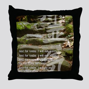 5 STEPS REIKI PRINCIPLES Throw Pillow