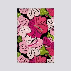 Pink Hibiscus Kindle Cover Rectangle Magnet