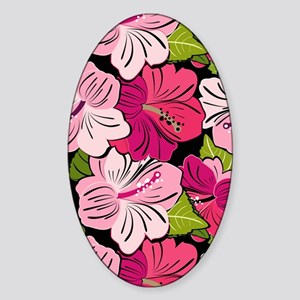 Pink Hibiscus Kindle Cover Sticker (Oval)