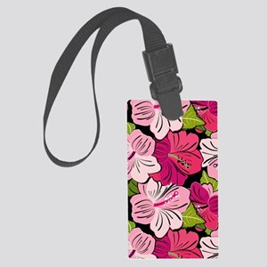 Pink Hibiscus Kindle Cover Large Luggage Tag