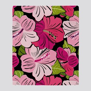 Pink Hibiscus Kindle Cover Throw Blanket