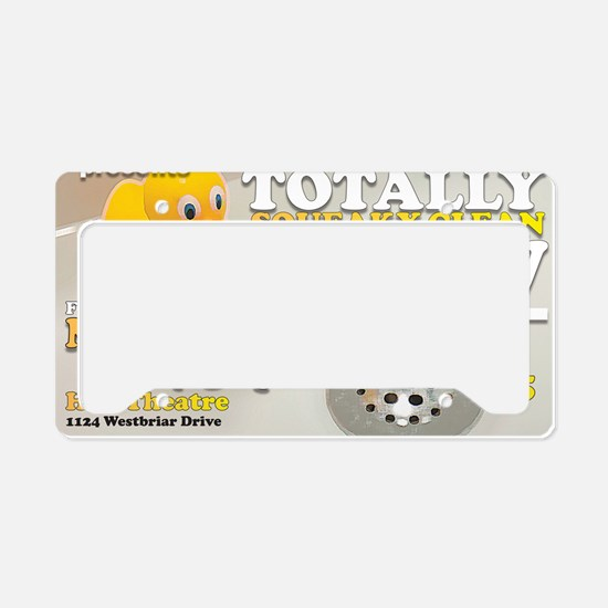 The Totally Squeaky Clean Sho License Plate Holder