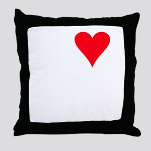iheartgeckos_black Throw Pillow
