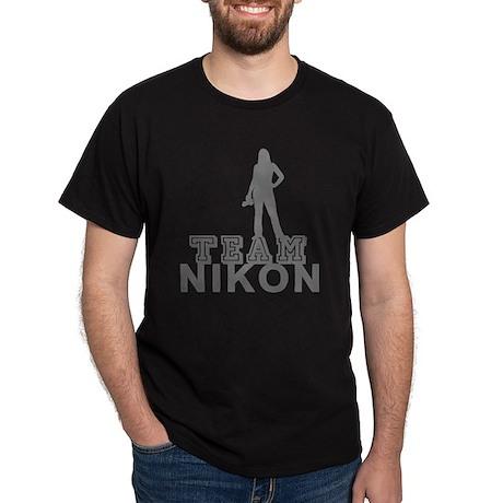 10x10_apparel.TEAM NIKON.gray copy Dark T-Shirt