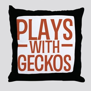 playsgeckos Throw Pillow