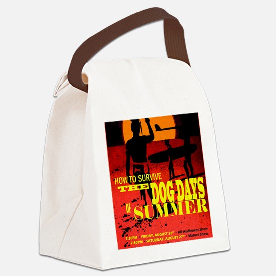 August 2011 show poster Canvas Lunch Bag