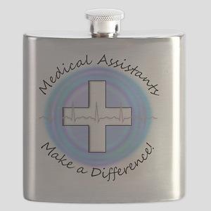 Ma ma diff  BLUE circle Flask
